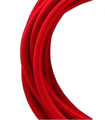 Câble textile 2C Rouge 3m 139676 8714681396766