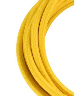 Más sobre Cable Textil 2C Amarillo 3m