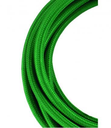 Câble textile 2C Vert foncé 3m 139678 8714681396780
