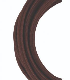 Più su Cavo tessile 2C Marrone 3m