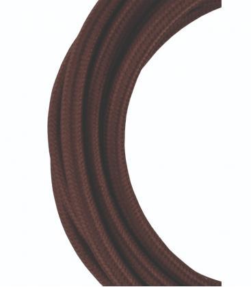 Cable Textil 2C Marrón 3m 139675 8714681396759