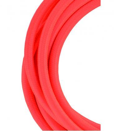 Tekstilni kabel 2C Oranžna 3m 139680 8714681396803