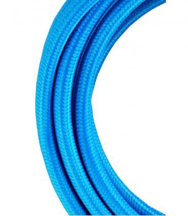 Câble textile 2C Bleu 3m 139681 8714681396810