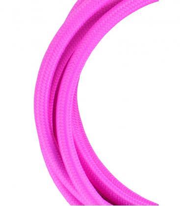 Textilkabel 2C Rosa 3m 139684 8714681396841