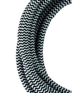 Plus de Câble textile 2C Noir/Blanc 3m