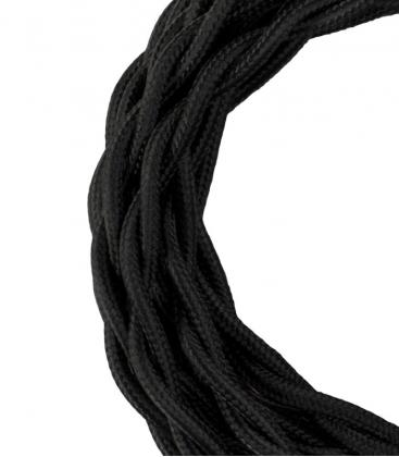 Câble textile Twisted 2C Noir 3m 140308 8714681403082