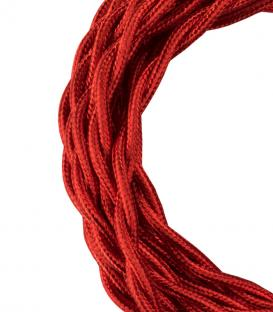 Más sobre Cable Textil Twisted 2C Rojo metalizado 3m