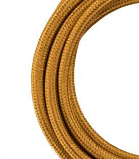 Mehr über Textilkabel 2C Metallisches Gold 3m
