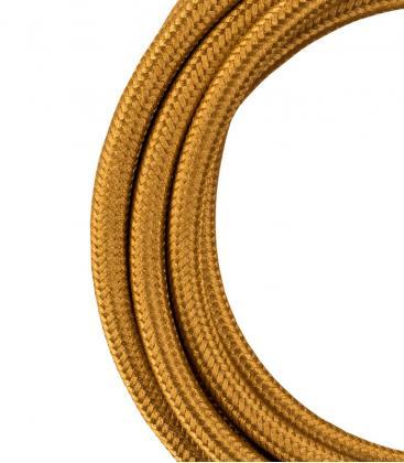 Cavo tessile 2C Oro metallico 3m 140311 8714681403112