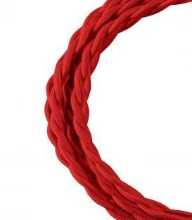 Mehr über Textilkabel Twisted 2C Rot 3m