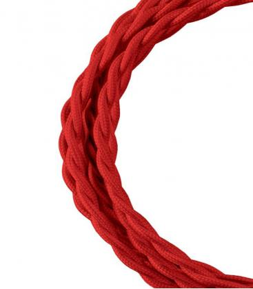 Cable Textil Twisted 2C Rojo 3m 140707 8714681407073