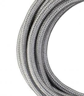 Più su Cavo tessile 2C Argento metallico 3m