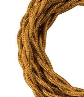 Más sobre Cable Textil Twisted 2C Oro metalizado 3m