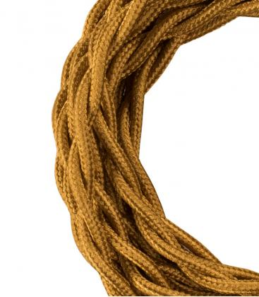 Textile Cable Twisted 2C Metallic Gold 3m 140314 8714681403143