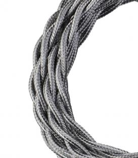 More about Textile Cable Twisted 2C Metallic Silver 3m