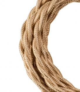 More about Textile Cable Twisted 2C Metallic Champagne 3m