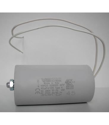 VS Kondensator 45mF 50/60Hz 250V 40977 528555 4050732322624