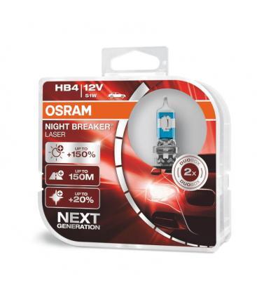 HB4 12V 51W 9006 NL Night Breaker Laser Dvojno pakiranje 9006-NL-DUO 4062172114417