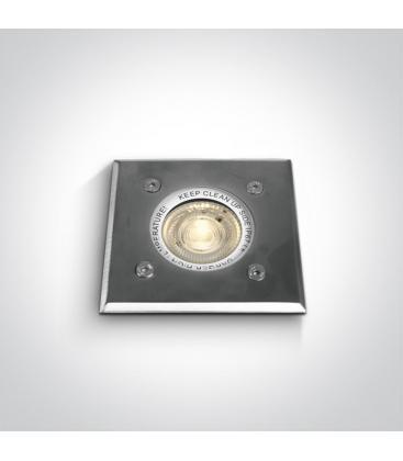 Rettangolare da incasso in acciaio inox 35W GU10 IP67 69008G 5291889036432
