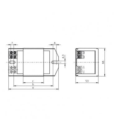 Ballast NAHJ   70.128 230V 50HZ HS, HI