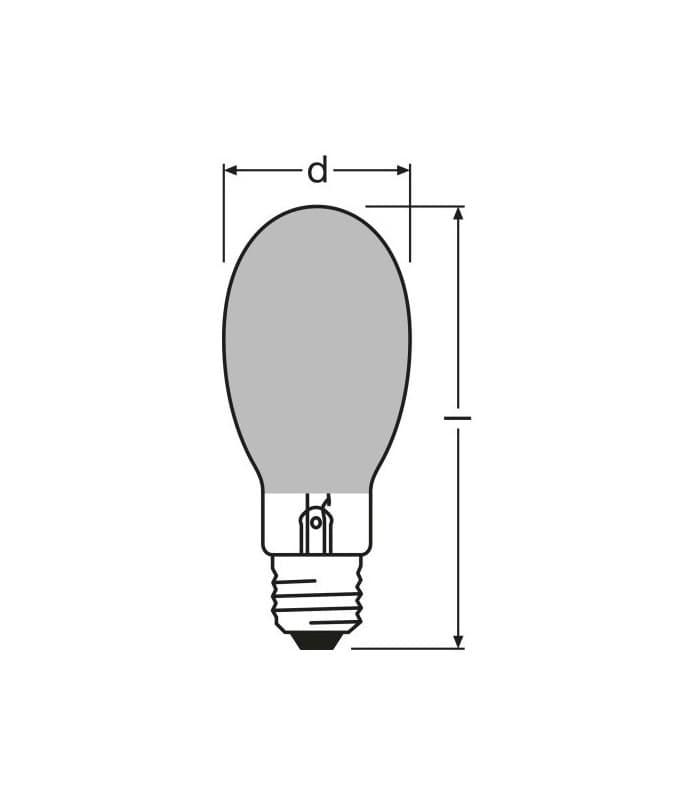 Metal Halide Lamp Choke: Osram HQI-e P 400W-d E40 Coated Hqi-e-p-400-d