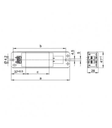 Reactancia LN36.149 230V 50HZ T8, T12, TC-F/TC-L, TC-DD, T-U/T-R