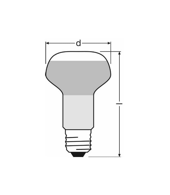 Osram Concentra R63 60w E27 Classic Reflector Light Bulbs