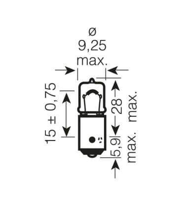 H6W 12V 6W 64132 BAX9s Original Line