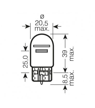 W21-5W 12V 7515 W3x16q Original Line