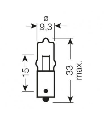 64113 12V 10W BA9s Original Line