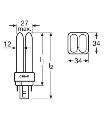 TC-d Dulux D-e 18W-827