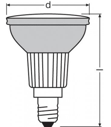LED Decospot Par16 GN 240V 1W E14 Green