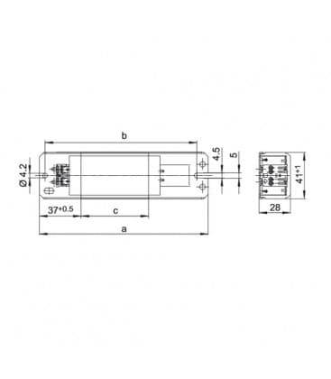 Ballast LN18.131 230V 50HZ T8, T12, TC-F/TC-L, TC-D/TC-T, TC-DD