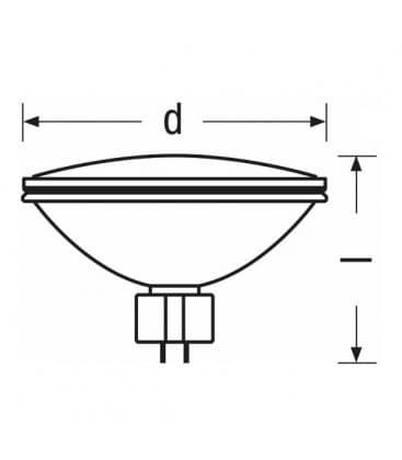 aluPar 64 1000W 240V GX16d Mfl