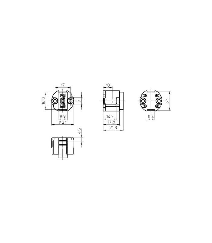 vossloh fassung g9 lampenfassungen de. Black Bedroom Furniture Sets. Home Design Ideas
