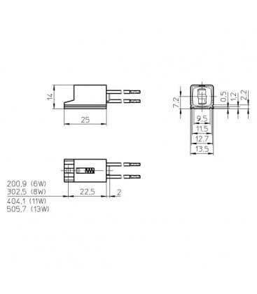 Portalampada W4.3x8.5d T2