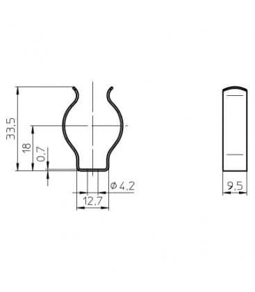 Nosilec sijalke T8 za fluo cevi