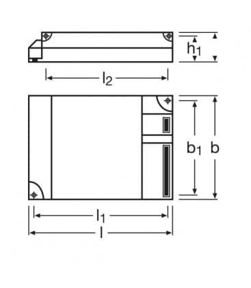 QTP-M 2x26-32W 220-240V