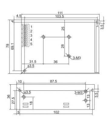 LED Power supply 12V 60W 110-220V