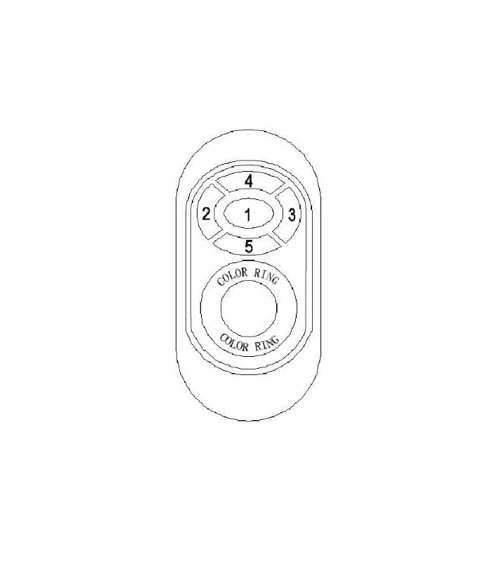 svetila com rgb led controleur dc 12v 24v 216w 432w rf