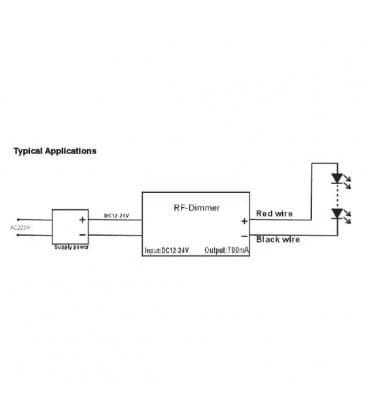 LED Controller DC 12V/24V 96W/192W RF con telecomando