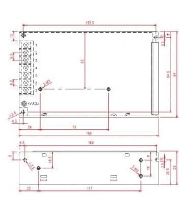 LED Napajalnik 12V 120W 110-220V
