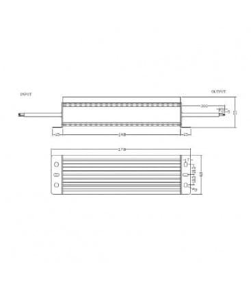 LED Napajalnik 12V 100W 110-220V vodotesen