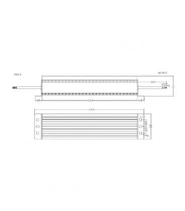 LED Napajalnik 12V 150W 110-220V vodotesen