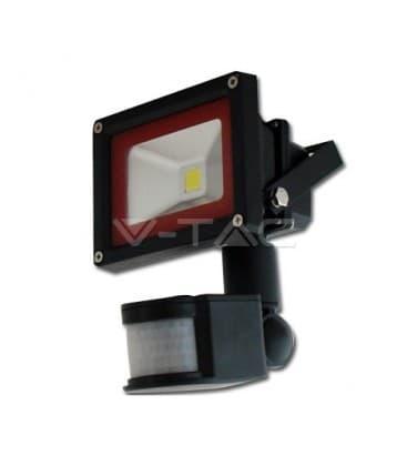 VT-4010 PIR LED reflektor 10W (100W) IP65 W mit Bewegungssensor