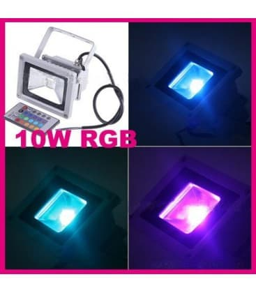 LED reflecteur 10W (100W) IP65 RGB avec telecommande