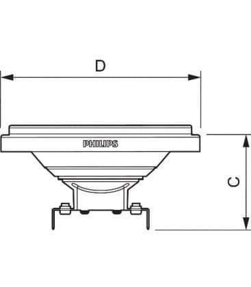 Master LEDspot LV AR111 10-50W 12V WH 24D Dimmerabile