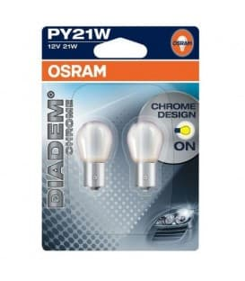 Diadem Chrome 7507DC PY21W 12V Se ve blanco, brillar amarillo - Double Pack