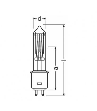 7636 64716 Gkv 600w 240v G95 4008321623997 on osram led datasheet