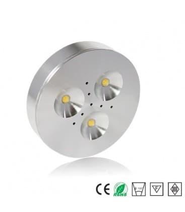 LED DISK 12V ALU 3000K WW cabinet light